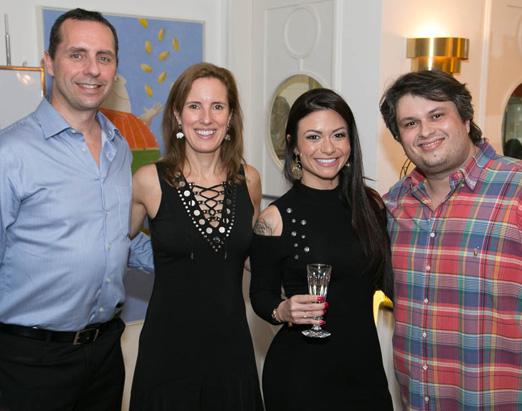 Craig Grinham, Evelyne Coulombe, Bruna Vieira e Claudio André de Castro