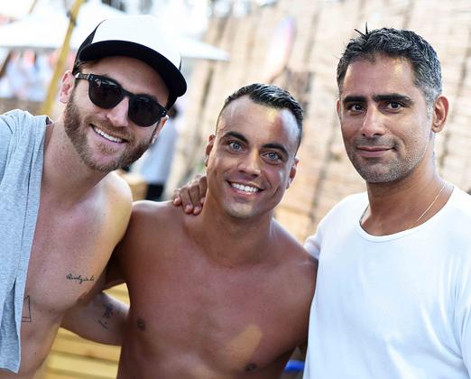 Diogo Canto, Biel Maciel e Diogo Castelão