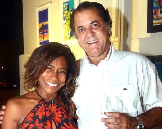 Glória Maria e Omar Peres