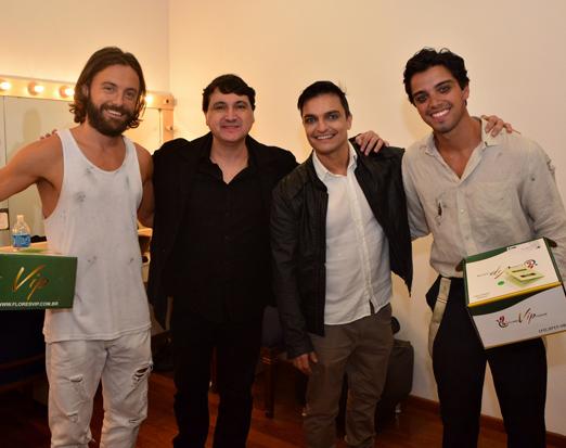 Kayky Brito, Maurício Machado, Eduardo Figueiredo e Rodrigo Simas