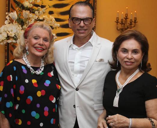 Lourdes Catão com Heckel Verri e Cleuba Verri