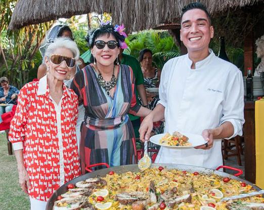 Lucia Fonseca, Yacy Nunes e o chef Hugo Oliveira