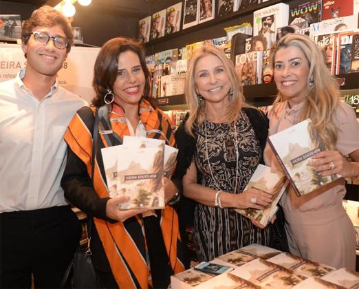 Luis Felipe com Narcisa, Claudia Martinez e Regina Giacomelli