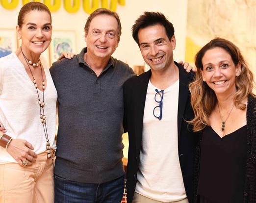 Beth Accurso, Francisco Grabowsky, Paulo Ouro Preto e Mylene Ouro Preto