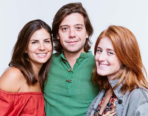 Camila Hamaoui, Pedro Rosman e Cecilia Geyer