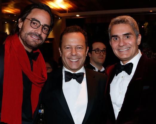Dinho Diniz, Vik Muniz e Felipe Diniz