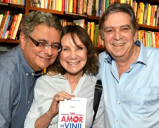 Flavio Marinho, Sylvia Massari e Guto Graça Mello