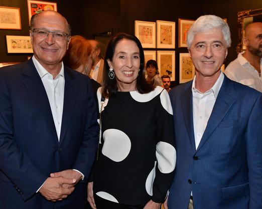 Geraldo Alckmin, Marina Sauer e Daniel Sauer