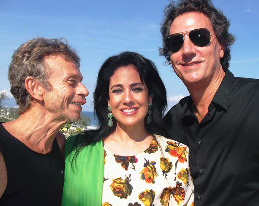 Marco com o casal Tatiane Giuliani e Julio Agra