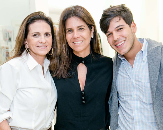 Paula Nabuco, Angela Hall e Luiz Guilherme Rodrigues
