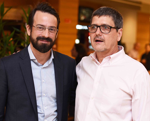 Rodrigo Ouro Preto e Arnaldo Bortolon