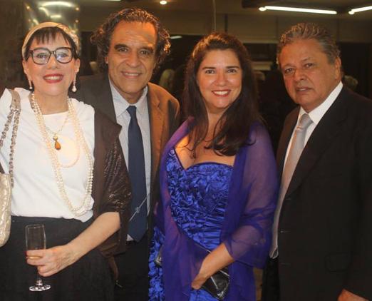 Yacy Nunes, Jorge Ramos e o casal Joana e Aloysito Teixeira