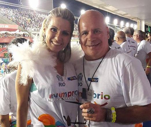 Adriana Alves e Eder Meneghine