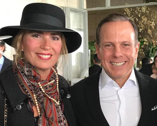 Carmen Ruette e João Doria