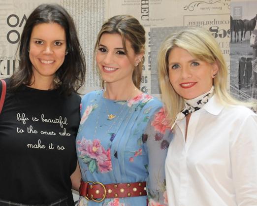 Carol Porto, Maria Rudge e Tathiana de Souza Aranha