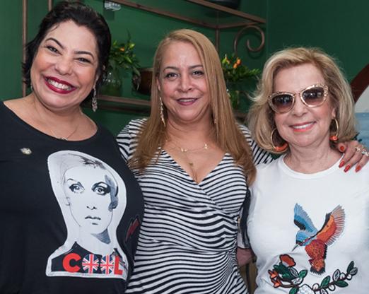 Claudia Cury, Candida Virgínia e Rachel Gusmão
