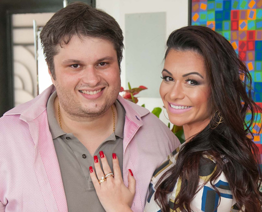 Claudio André e sua amada Bruna Vieira