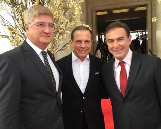 David Barioni, João Doria e Amaury Jr