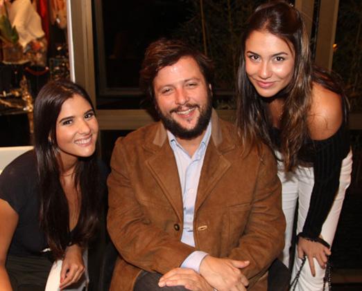 Duda Camarão, Diogo Ferraz e Castro e Yanna Melo