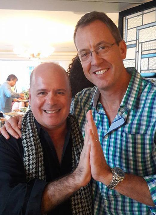 Eder Meneghine e o cônsul-geral dos EUA no Rio, James Story