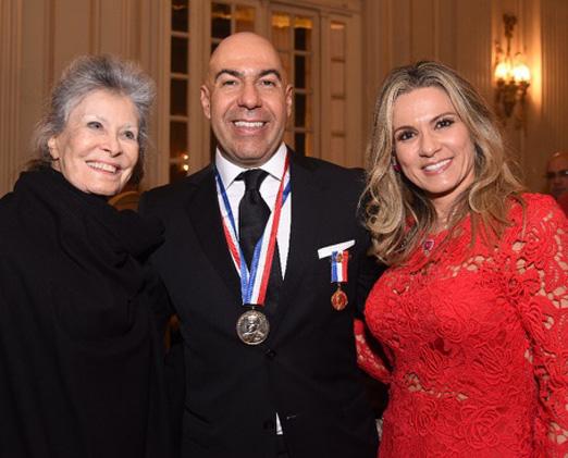 Gisella Amaral com o casal Marcelo e Adriana Alves