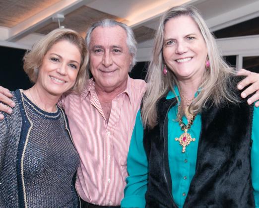 Márcia Peltier com Leleco e Maninha Barbosa