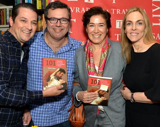 Marcelo Serrado, João Emanuel Carneiro, Lilia Cabral e Patricia Kogut