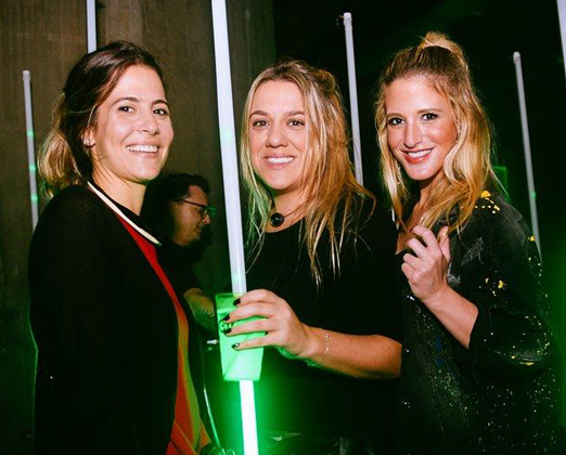 Maria Clara Spyer, Juliana Barbeiro e Nicole Kopenhagen