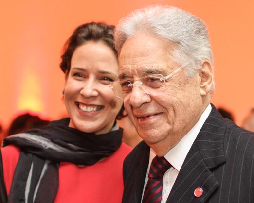 Patricia Kundrat e Fernando Henrique Cardoso