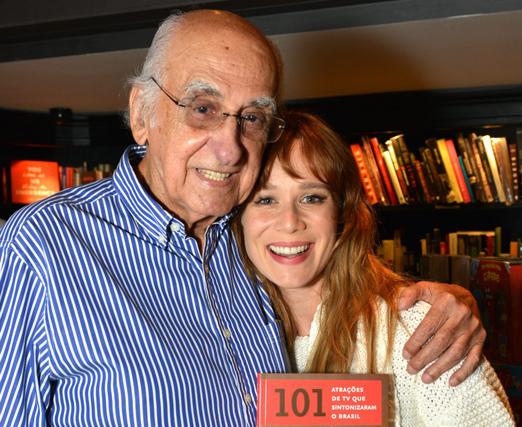 Zuenir Ventura e Mariana Ximenes