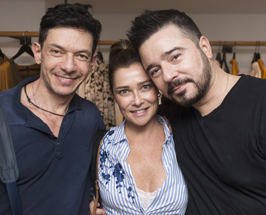 André Piva, Flávia Leal e Carlos Tufvesson