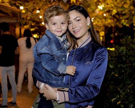 Lu Tranchesi e o filho Antonio