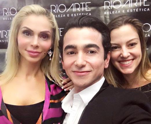 Nina Frejat, Max Martins e Tatiana Tirindelli