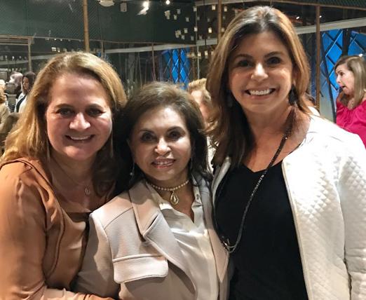 Renata Fraga com Cleuba Verri e Raquel Verri