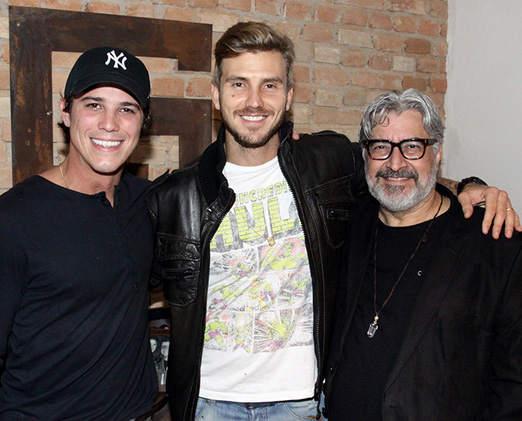 Romulo Arantes Neto, David Jensen e Sérgio Mattos
