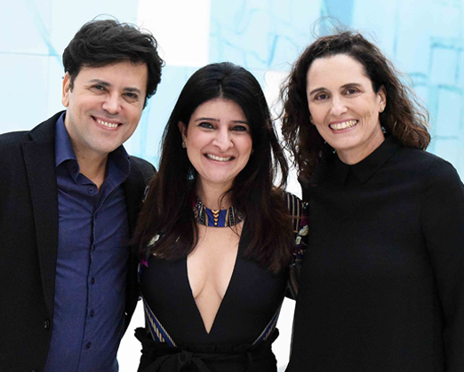 Amauri Guedes, Mariana Fonseca e Maritza Caneca