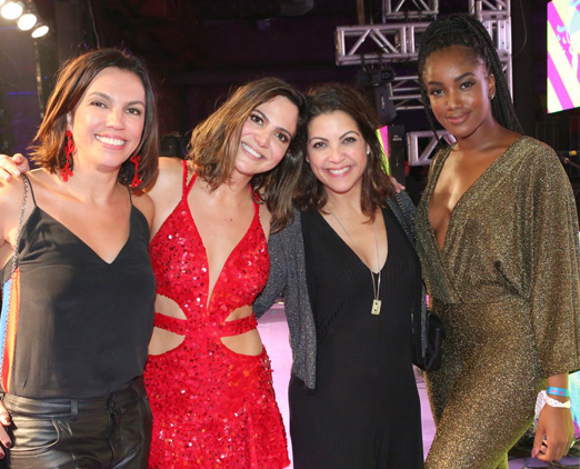 Ana Paula Araújo, Carol Sampaio, Thalita Rebouças e a cantora Liz