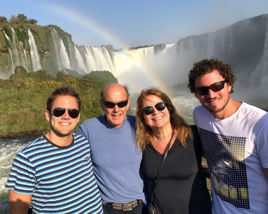 Família Fraga em Foz do Iguaçu
