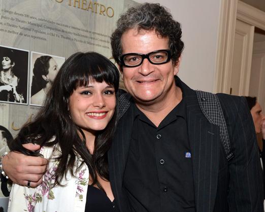 Geraldinho Magalhães e a filha Alice