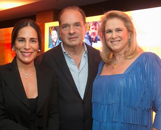 Glória Pires com Luiz e Glória Severiano Ribeiro