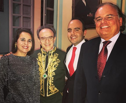 João Almino com a família Pitanguy