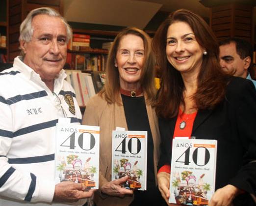 Leleco Barbosa, Mirtia Gallotti e Mylene Peltier