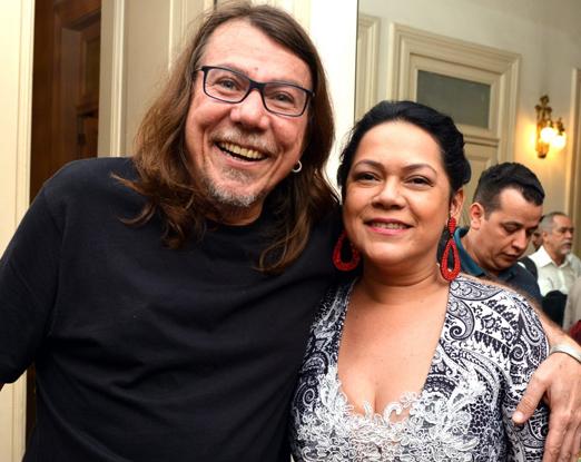 Lenine e Patricia Bastos