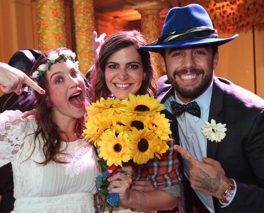 Luana Piovani, Carol Sampaio e Pedro Scooby