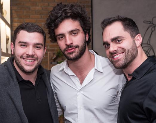 Luiz Felipe Maia, Antonio Aguiar e Rodolfo Mestieri