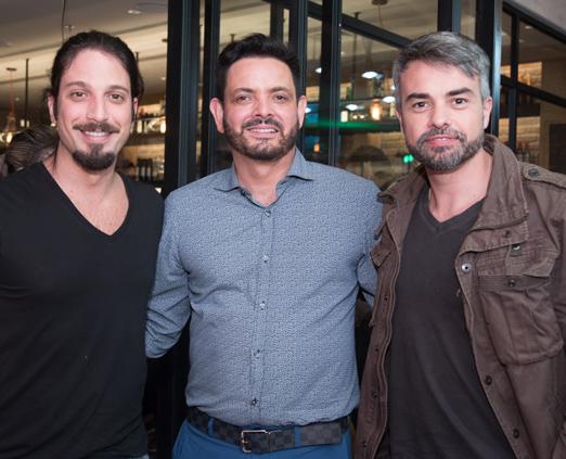 Marco Antonio Gimenez, Ricardo Carvalheira e Marcio Kieling