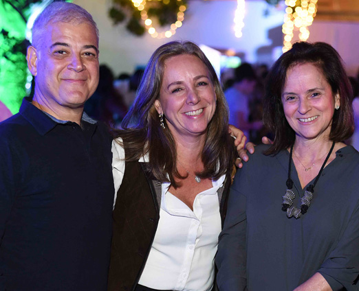 Mauricio Nóbrega, Cecilia Nóbrega e Patricia Quentel