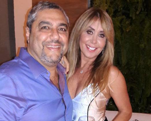 Os anfitriões Marcelo e Tania Badin