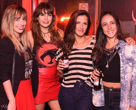 Pamela Coto, Tais Vaz, Lazuli Galvão e Camila Fittel