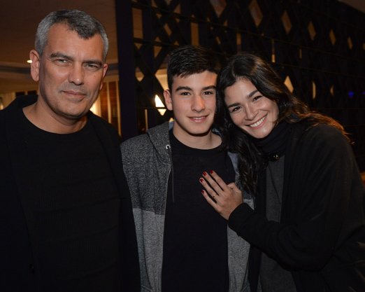 Paulo Lourenço, João Felipe e Carol Ribeiro